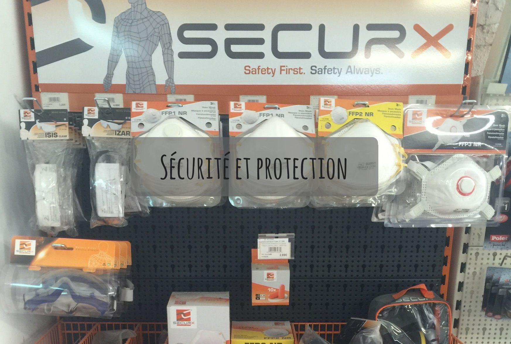 La protection passe avant tous! Munissez vous de gants, masque, casque pour être en sécurité.